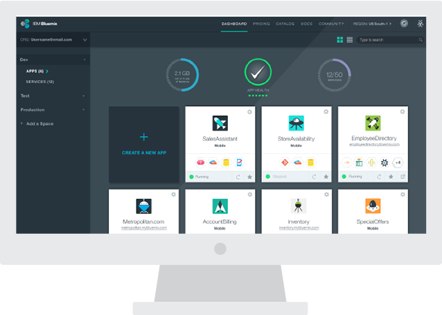 Tutoriales y cursos Bluemix